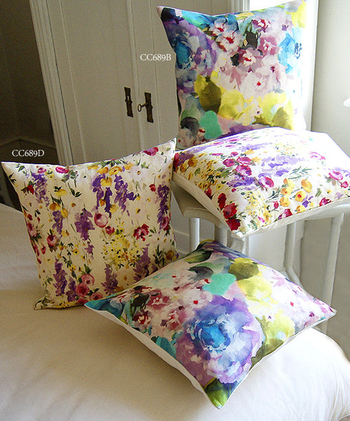 Floral Brights Linen Cushions