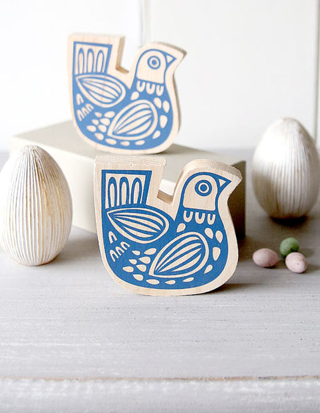 Wooden Folksy Bird Decoration