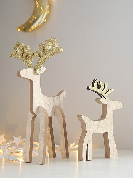 Golden Antlered Reindeer