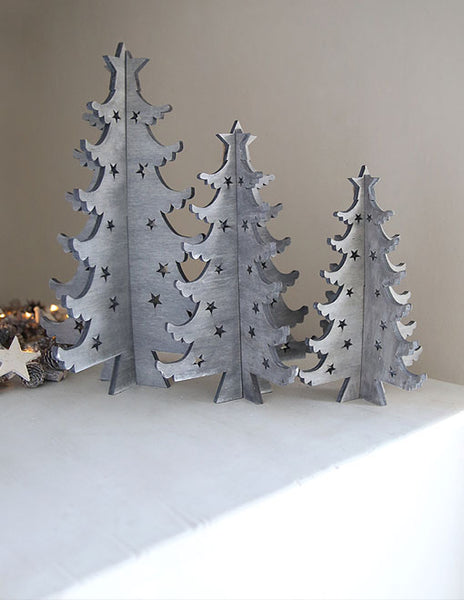 Grey Scandi Christmas Tree Decoration