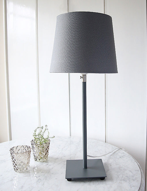 Grey Table Lamp With Grey Shade