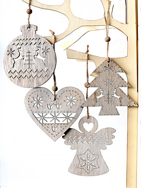 Wooden Nordic Hanging Decorations