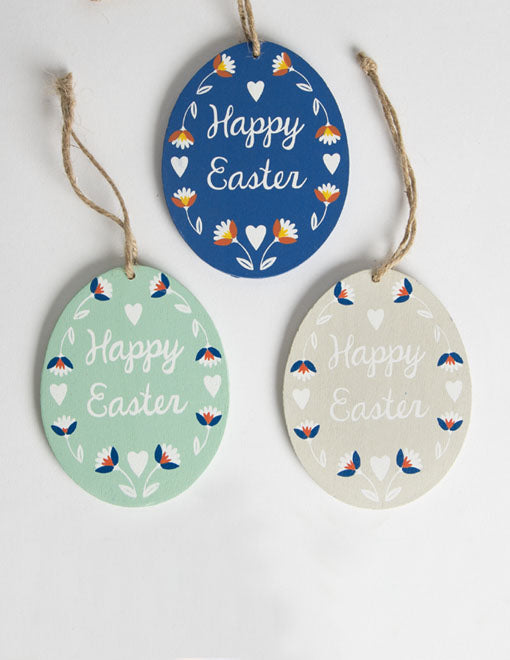 'Happy Easter' Hanging Egg Decoration