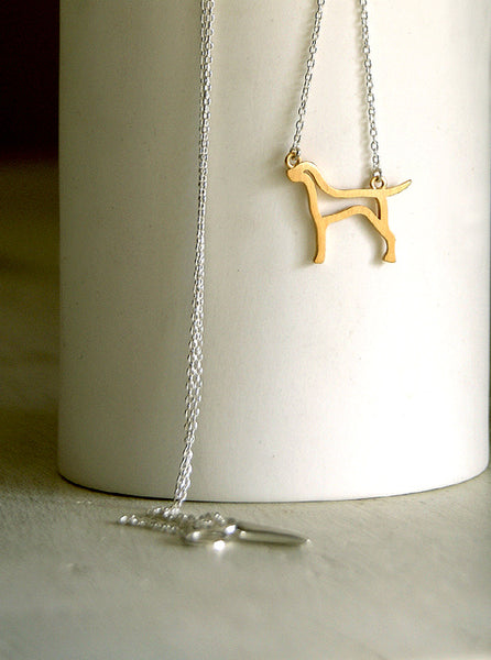 Gold Hound Necklace