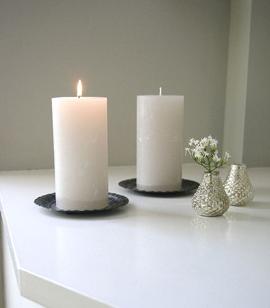 Latte Pillar Candle