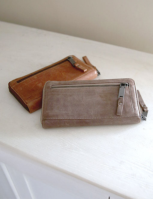 Large Leather Zip Purse