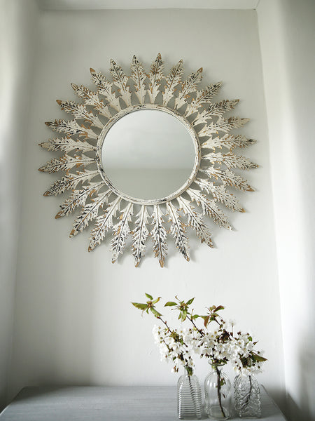 Leaves Circular Mirror
