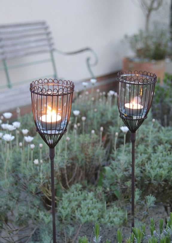Kamla Garden Lanterns - Linear Set of Two