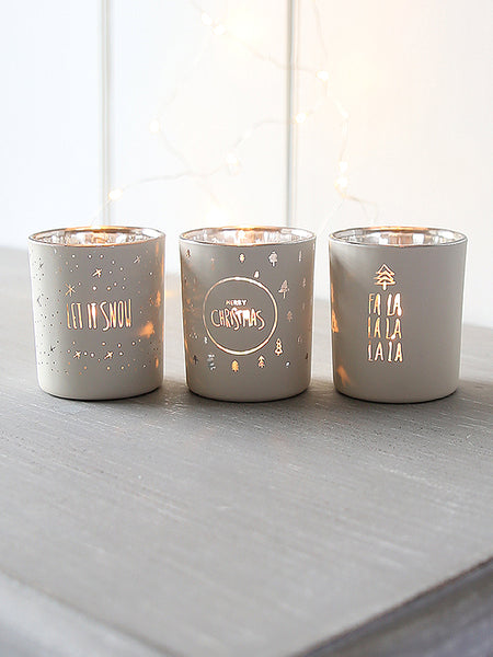 Messages In The Snow Tealight Set