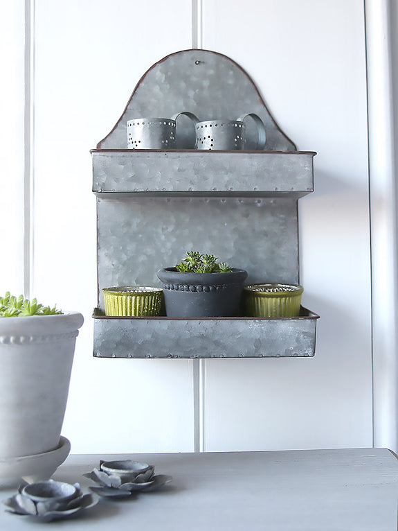 Metal Two Tier Shelf