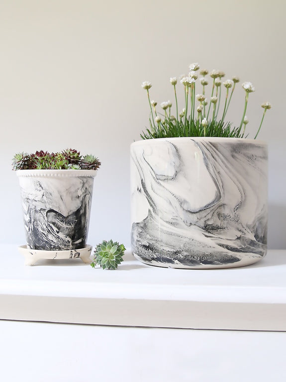 Monochrome Ceramic Planter