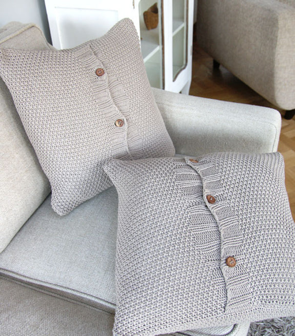 Stone Moss Stitch Cushion