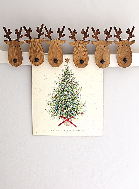 Reindeer Head Card Pegs
