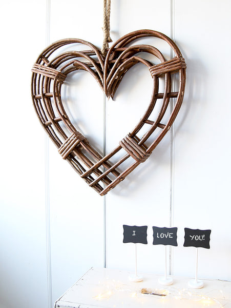 Natural Willow Hanging Heart