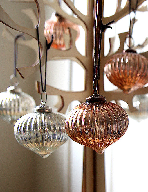 Copper Onion Bauble Pair