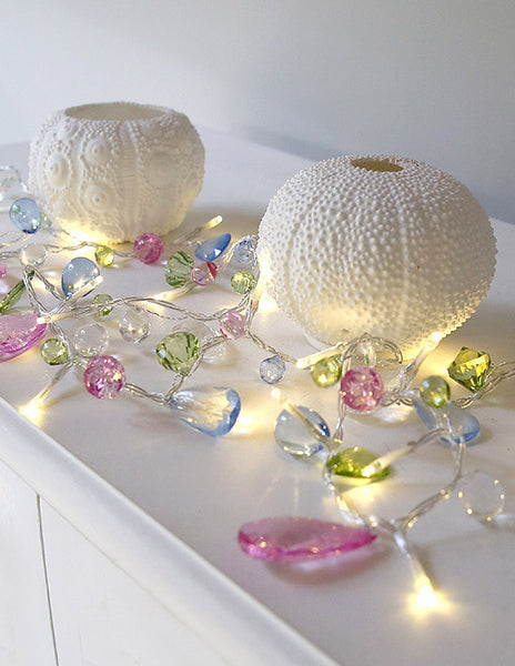 Pastel Crystal Battery Light Garland