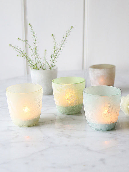 Pastel Etched Tealight Set