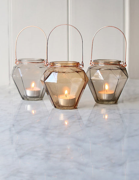 Prism Glass Hanging Tealight Holder