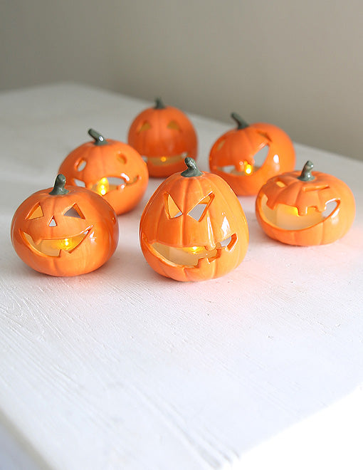 Halloween Ceramic Pumpkin Tealights