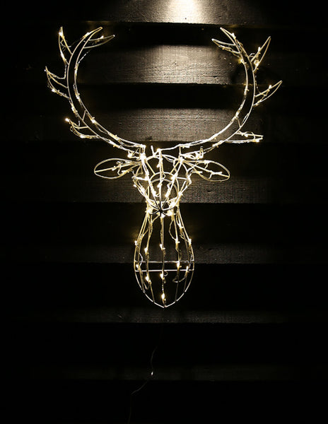Reindeer Head Outdoor Light Decoration