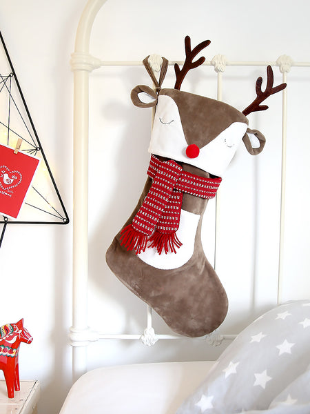 Reindeer with Antlers Stocking