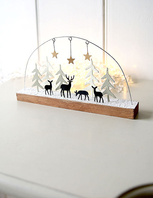 Reindeer Winter Woodland Decoration