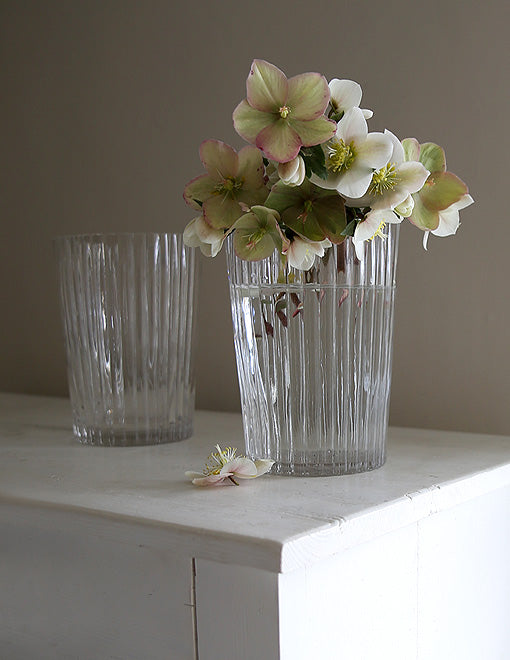 Ridged Glass Vase