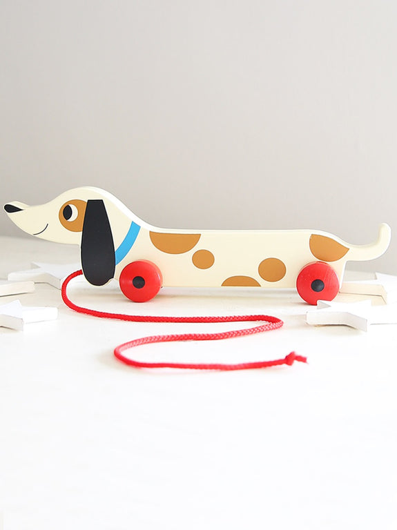 Sausage Dog Wooden Pull Along