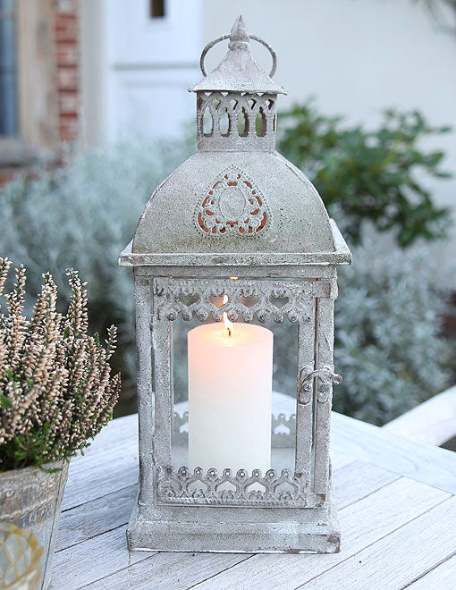 Greywashed Scandi Metal Lantern