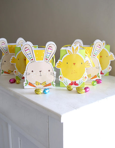Six Easter Hunt Treat Bags