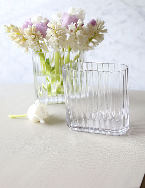 Small Oval Glass Vase