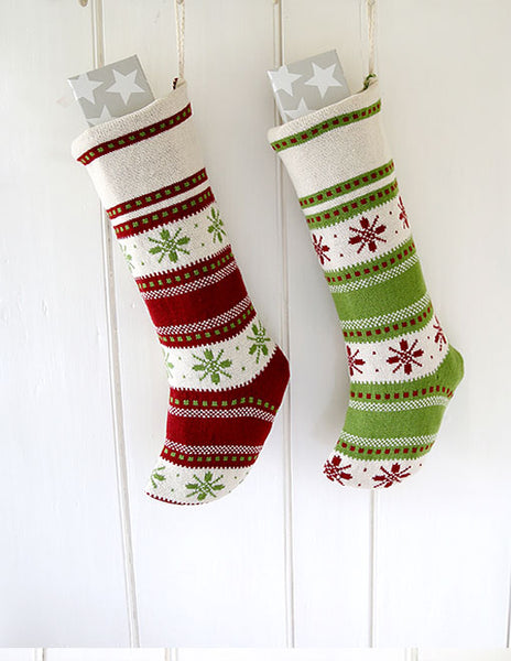Stripes And Snowflakes Stocking