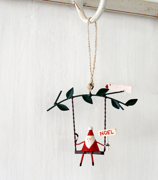 Father Christmas on Swing