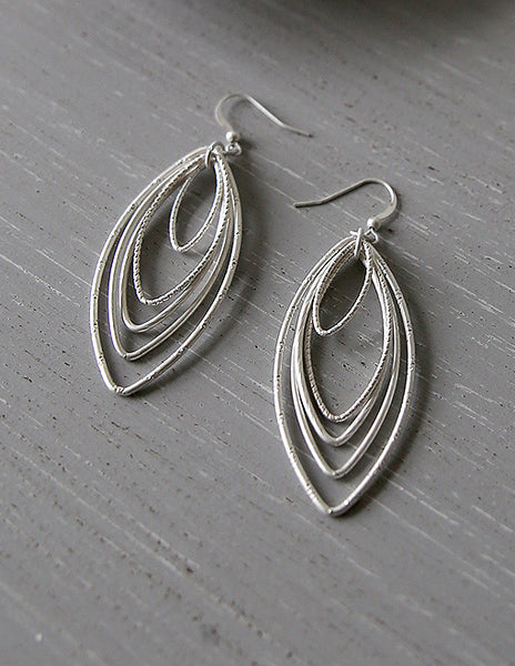 Oval Pendant Earrings