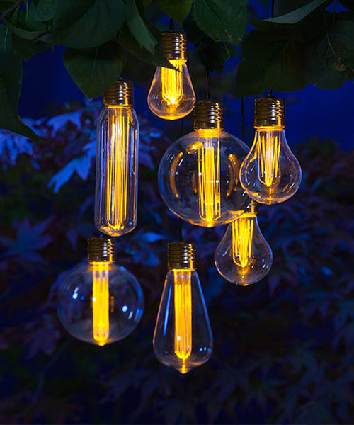 Outdoor Solar Edison Bulb Light Garland