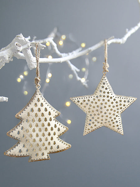 White And Gold Christmas Tree Decoration