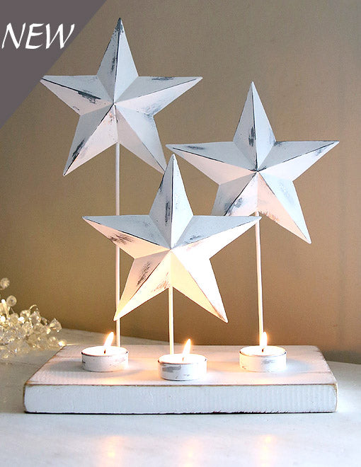 White Star Trio Tealight Holder