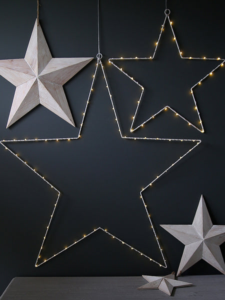 White Wire LED Star Light