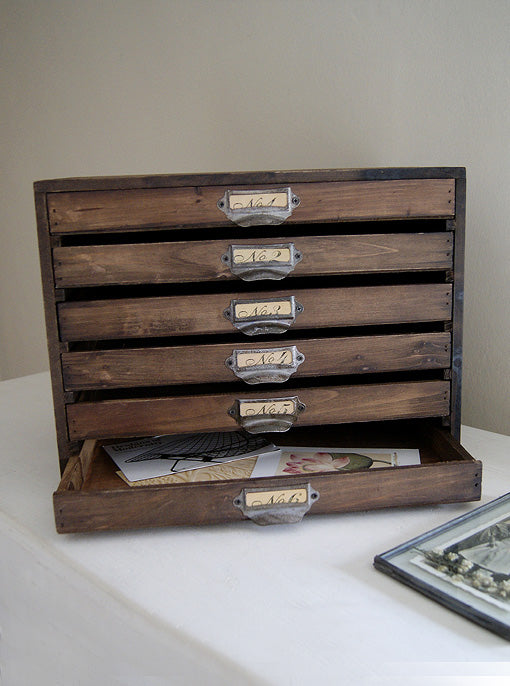Wooden File Box