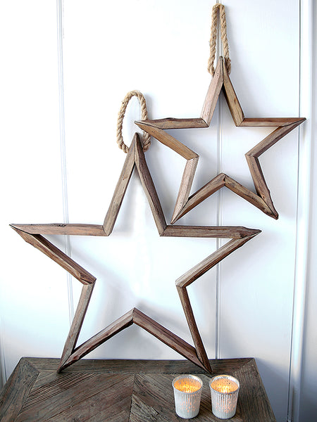 Rustic Wooden Hanging Star