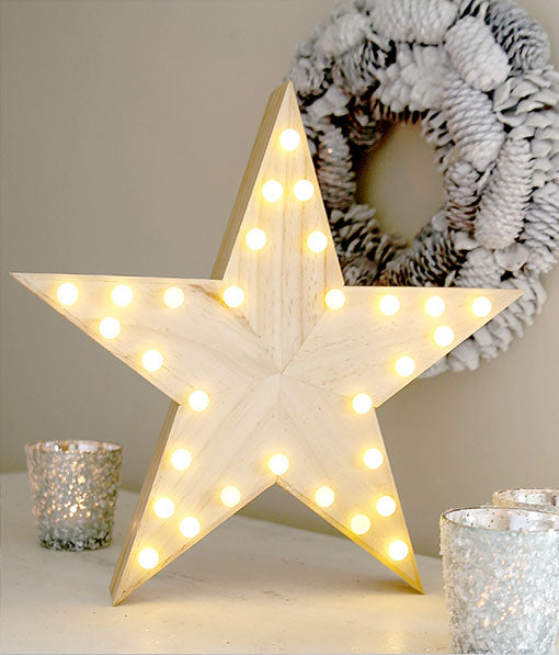 Wooden Carnival Star Light