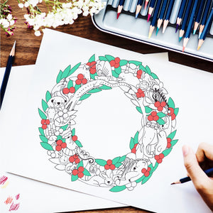 Alphabetimals Holiday Coloring Wreath