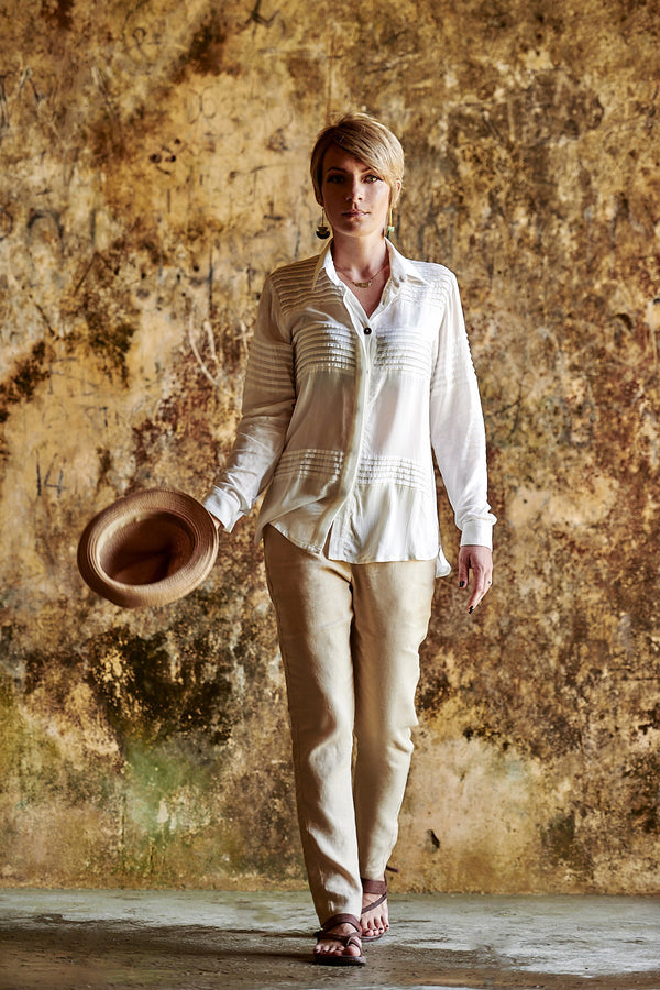 Bokor Tuxedo Shirt, Paloma Private Label, ethical fashion, Bokor Collection