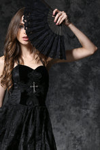 Load image into Gallery viewer, Black victorian retro royal fan AFN001 - Gothlolibeauty