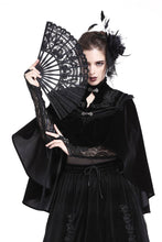 Load image into Gallery viewer, Gothic Black lace fan AFN003 - Gothlolibeauty