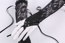 Load image into Gallery viewer, Gothic lace oversleeve with ribbon rope AGL002 - Gothlolibeauty