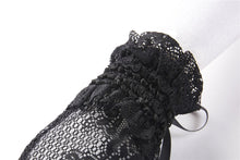 Load image into Gallery viewer, Black lolita lace gloves AGL005