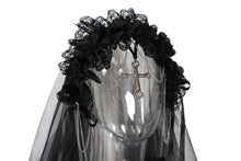 Load image into Gallery viewer, Gothic bride cross veil AHW004 - Gothlolibeauty
