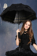 Load image into Gallery viewer, AUM003 Lolita lace waterproof telescopic umbrella parasol