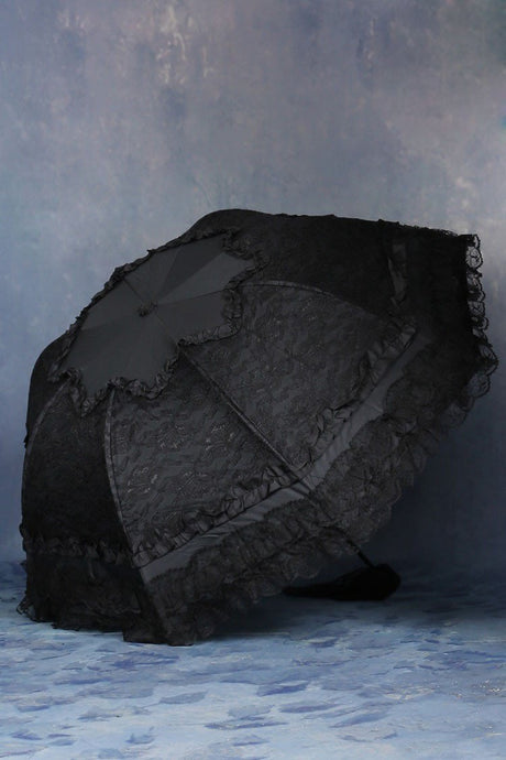 Lolita lace waterproof telescopic umbrella parasol AUM003 - Gothlolibeauty